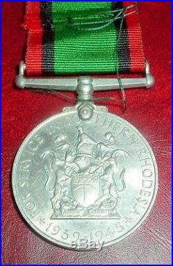 Medals-original Rare Ww2 Southern Rhodesia Service Medal
