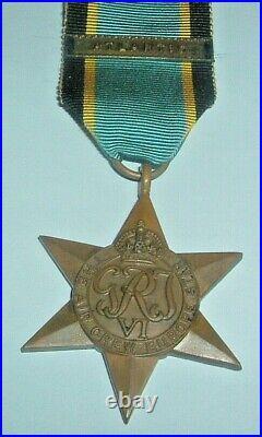 Medals-original Ww2 British Air Crew Europe Star + Original Atlantic Clasp