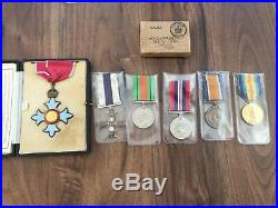 Military Cross & CBE Medal group with provenance WW1 & WW2