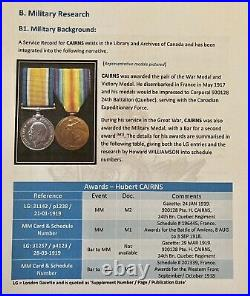 Military Medal with Bar WW1 Plus Research Report