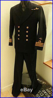 Military WW1 Royal Navy R. N Tunic Uniform Naval Commander Medal Bars Wings 5464