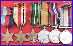 Named Ww2 War Medals Australian Army Wx4485 Oxenham Original Anzac