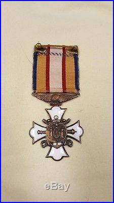 New York Society of Military & Naval Officers World War Medal WW1 Extremely Rare