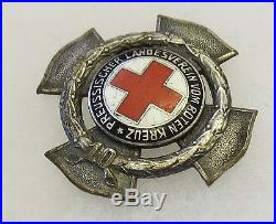 ORIGINAL Pre WW2 GERMAN PRUSSIAN RED CROSS 10 YEAR SERVICE KREUZ MEDAL by GODET