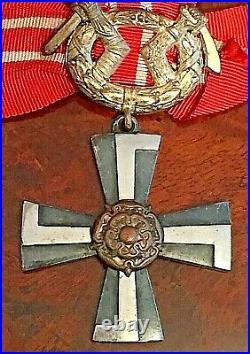 Original Finland Liberty Cross 1941 Order Medal Ww2 Wwii Suomi
