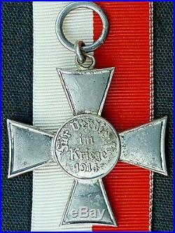 Original German Medal, Ww1, Lubeck Hanseatic Cross (iron Cross) 1914-1918