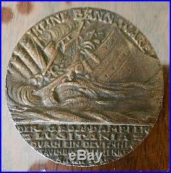 Original Karl Goetz German Medal Sinking Lusitania World War I Rare 5 Mai Cunard