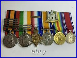 Original Medals, Boer War, WW1, Inniskilling Dragoons and Queens Bays, Palmer
