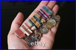 Original WW1 And WW2 Miniature Medal Group Of 7