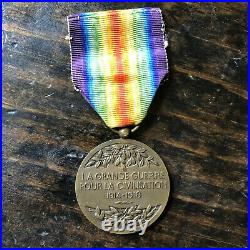 Original WW1 French Inter-allied Victory Medal Model Charles