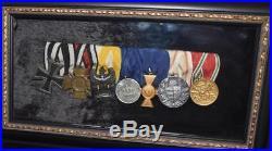 Original WW1 German 7 Medal Bar incl Iron Cross 1st Class, Cross of Honor Plus 5