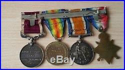 Original WW1 Medal Trio + LSGC Medal East Surrey Regt
