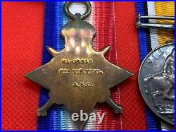 Original WW1 Mons 1914 Star Medal Trio, 2nd Lt, Officer, Royal Air Force