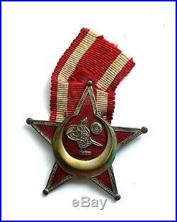 Original WW1 Ottoman Turkish Gallipoli Star Medal Full Size B. B. & Co