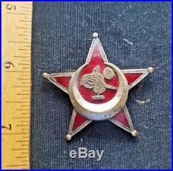 Original WW1 Ottoman Turkish Gallipoli Star Medal, Marked German Mfg B. B. & CO
