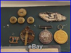 Original WW1 Tank Corps British War & Victory Medal Pair