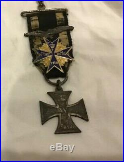 Original WW1 WWI German Iron Cross 2nd class With Pour Le Merite Blue Max Medal