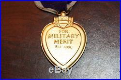 Original WW2 US Army named medal