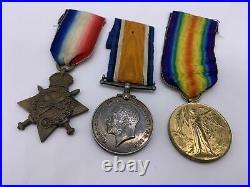 Original World War One Medal Trio, Pte. T. McDonald, Durham Light Infantry