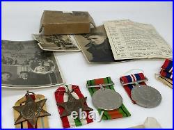 Original World War Two Medal Grouping, 8th Army, Named with Photographs and Box