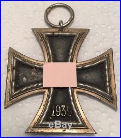 Original World War WW II 2 GERMAN Iron Cross 2nd Second Class Medal 1813-1939