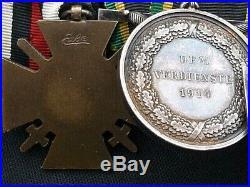 Original Ww1 German 3 Medal Iron Cross, Saxe Weimar Eisenach Group 1914-1918