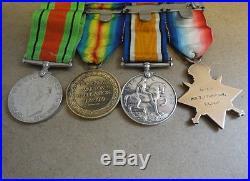 Original set of WW 1 British Campaign Medals Royal Irish Rifles