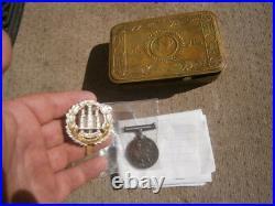 PRINCESS MARY CHRISTMAS TIN WW1 War Medal NORTHAMPTONSHIRE REGIMENT