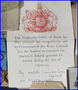 Palestine Medal + Ww2 Medals Italy In Boxes Gerrard Pettaugh Stowmarket Suffolk