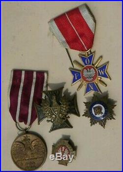 Polish Poland Pologne Set Badges Medals Ww2