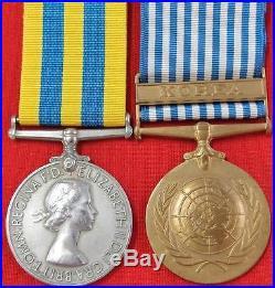 Post Ww2 Korean War Medal Pair 5th Dragoon Guards British Army Corporal Jiggins