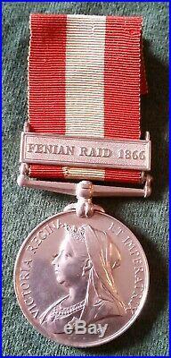 Pre-WW1 Canadian General Service Medal, Fenian Raid Melbourne I Company