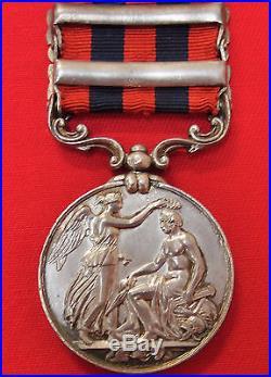 Pre Ww1 British 2 Bar 1854 India General Service Medal War 1st Bn Rifle Brigade