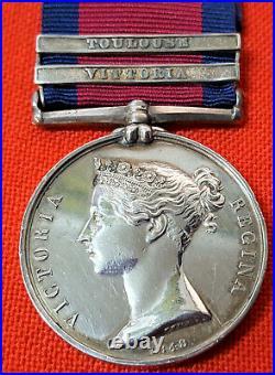 Pre Ww1 British Military General Service Medal G. Fletcher 3rd Dragoon Guards