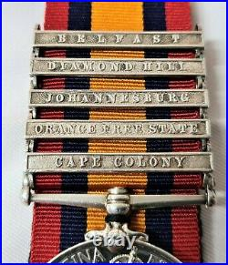 QUEENS SOUTH AFRICA MEDAL 3017 W E CROGHAN 6th INNISKILLING DRAGOONS SERVED WW1