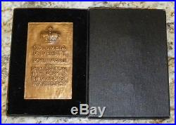 RARE Columbia University World War II War Research Service Medal named and Boxed