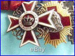 Rare Romanian Medal Bar 10 Medals Official Ww1 Victory Turkish & Balkan War More