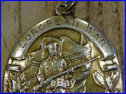 Rare Ww1 Canadian Solid 10k Gold European War Home Coming Medal Valour 12.3g Nr