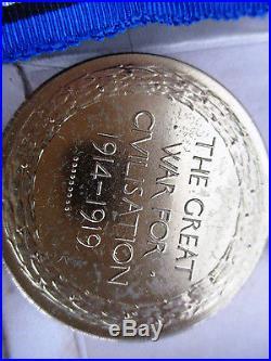 RFC Aircrew Rare MID, KIA WW1 Plaque-Penny 2 Medals 2Lt mint Unworn medals group