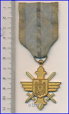 ROMANIAN Kingdom WW2 Romania royal ORDER pilot BRAVERY medal aeronautical VIRTUE