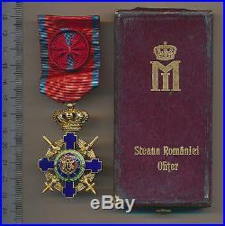 ROMANIA Germany REICH Order of the STAR Romanian Swords Knight WW2 war medal BOX