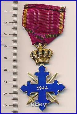 ROMANIA Order MEDAL Romanian MIHAI VITEAZUL Knight CROSS Officer WW 2 Reich 1944