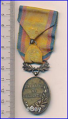 ROMANIA Order WW1 I ROMANIAN CAROL Manhood Faith Medal 1913 BALKAN WAR class III