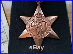 Rare Arctic Star Medal WW2 Group to Fleet Air Arm Royal Navy