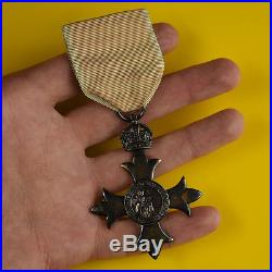 Rare Authentic GOD AND THE QUEEN Sterling Silver World War One Military Medal