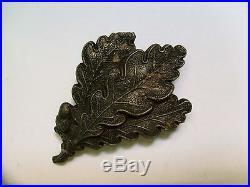+++ Rare Original German Sniper Soldier Jager Oakleaf War Pin Ww2 Medal 0311