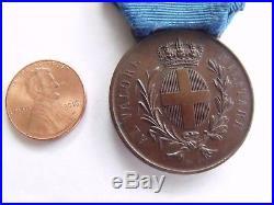 Rare Original Italy Al Valore Militare Medal 1913 Libyan Campaign Pre Ww1