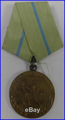 Rare Original Russian Medal Ww2 Defense Odessa War Crimea Russia First Type