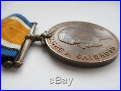 Rare WW1 Bronze British War Medal. S. A. N. L. C. (South African Native Labour Corps)