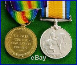 Rare WW1 Medal Pair to a Woman WKR Alice Muriel Cowens 2729 Q. M. A. A. C